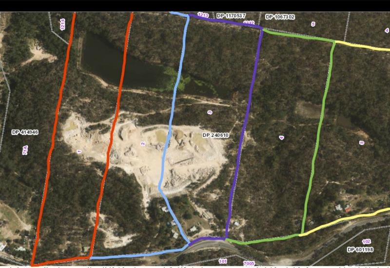 125 ACRES - 5 TITLES- DA APPROVED QUARRY