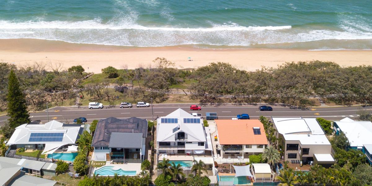 RARE BEACHFRONT IN BUDDINA'S GOLDEN TRIANGLE