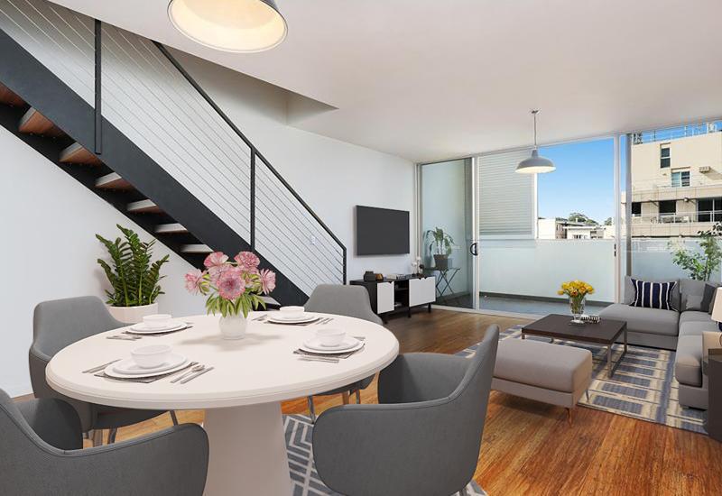 Two Bedroom Split Level Apartment