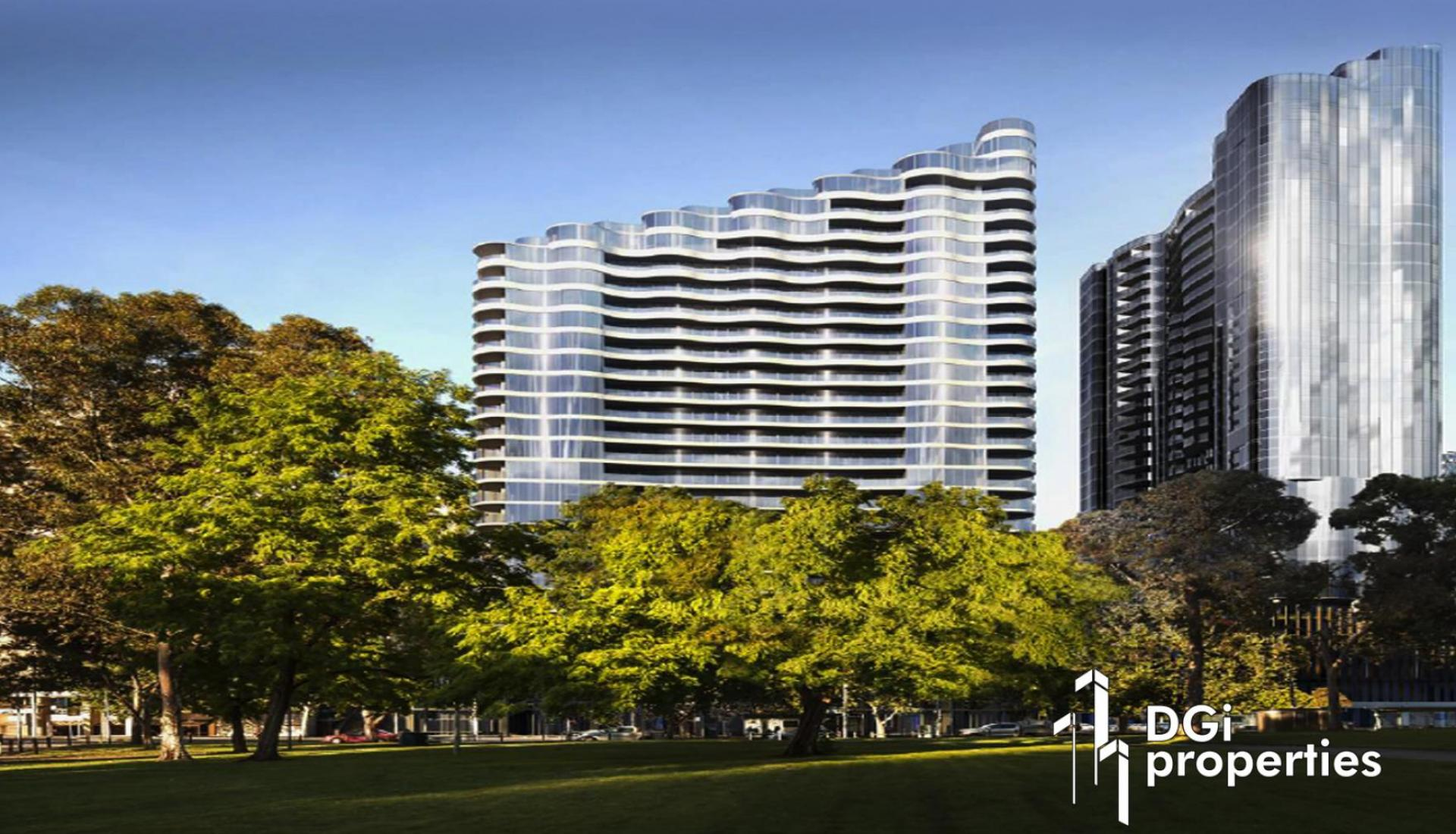 THE STRIKING TOWERS OF FLINDERS BANK HAVE BEEN  INSPIRED BY THE YARRA RIVER