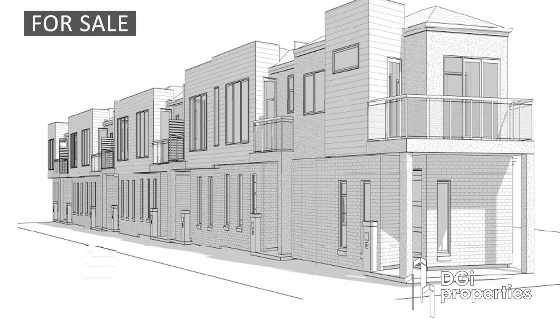 PLANS & PERMITS FOR 8 TOWNHOUSES