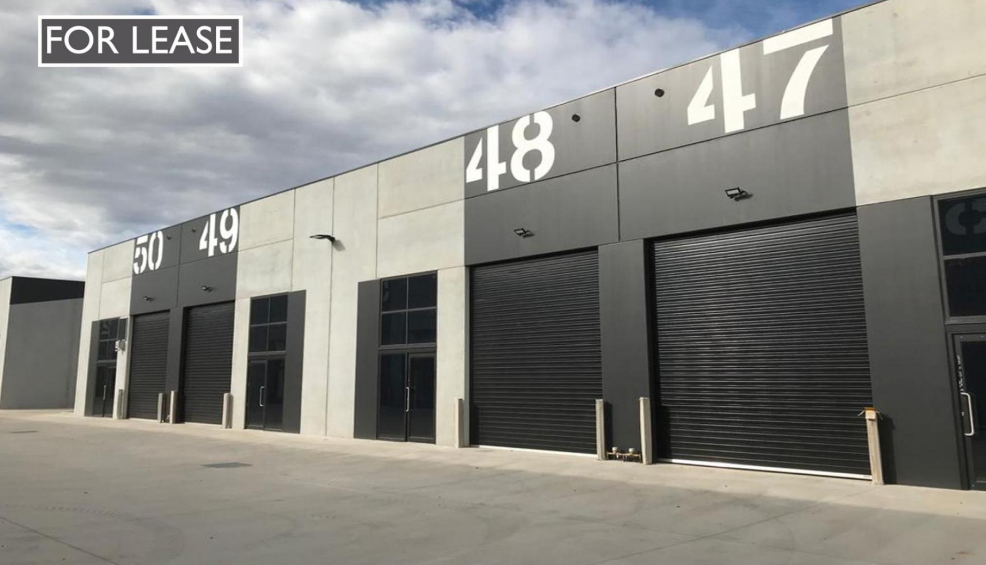 BRAND NEW HIGH CLEARANCE WAREHOUSES - 80m2 TO 310m2