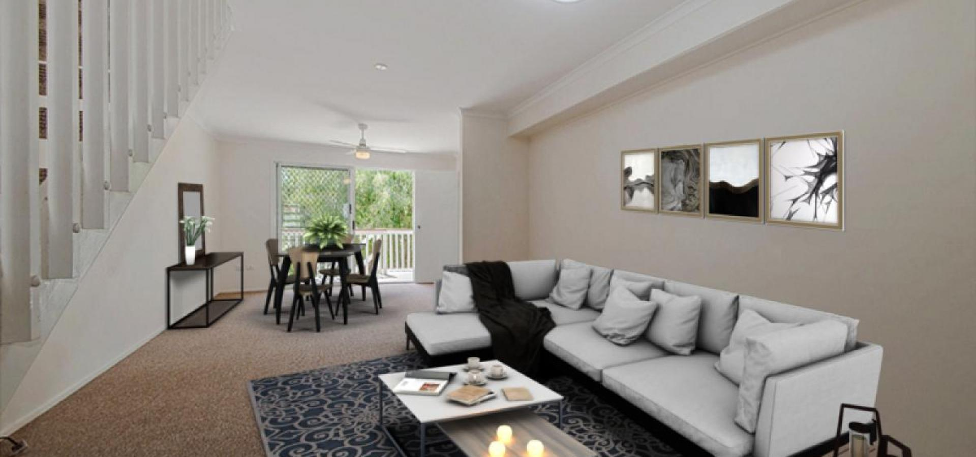 Spacious townhouse, large courtyard, affordable body corporate fees