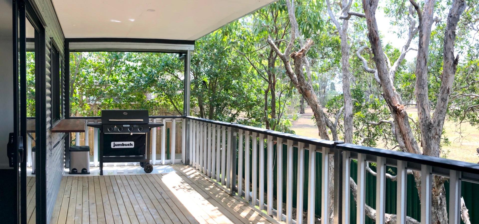 Beautiful near new home - massived covered deck overlooking acres of parkland