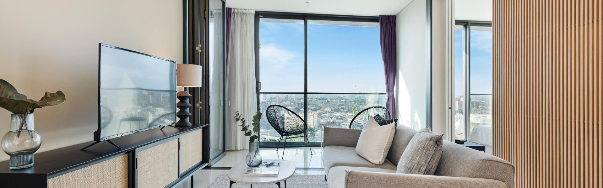 High Level one bedroom plus study for sale in Central Park