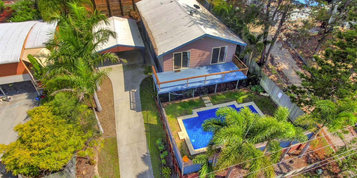 HIGH SET HOME WITH DUAL LIVING & POOL
