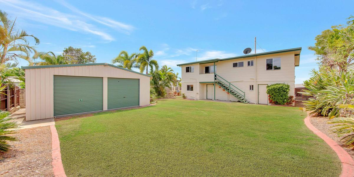 ELEVATED HOME IN QUIET STREET WITH DOUBLE CARPORT, SINGLE LOCK UP GARAGE, 2 BAY SHED