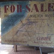 Real Estate Nostalgia - 70 yr old For Sale Sign