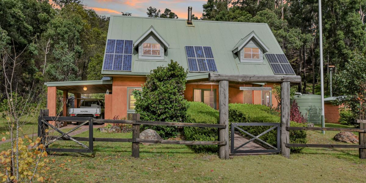 Solar Passive Country Home with Beautiful Valley Acres