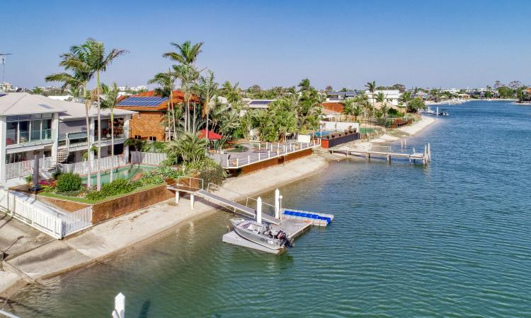Huge Renovated Waterfront Home On Mooloolaba Canal in a Tightly Held Street