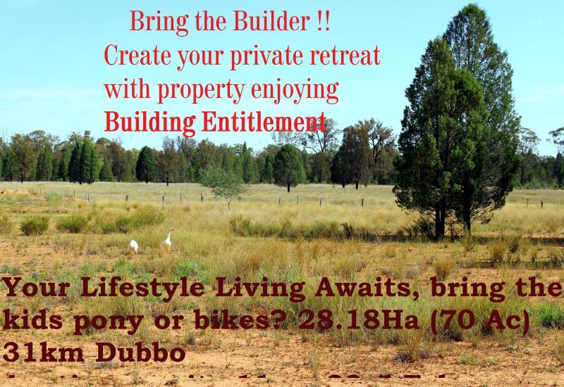 BUILDING ENTITLEMENT CONFIRMED 12/2/19! BUILD YOUR DREAM HOME ON THIS 28.18Ha/70 Acre Property with power and town water close by !!