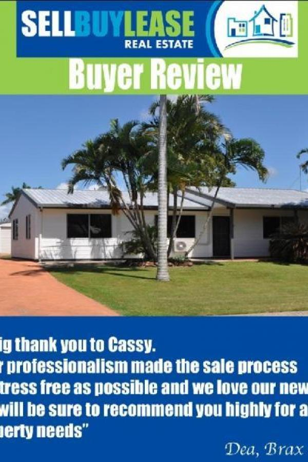 Your professionalism made the sale process as stress free as possible