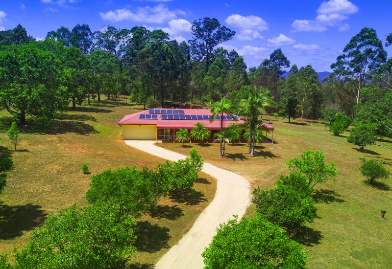 Established acreage property in private and convenient location