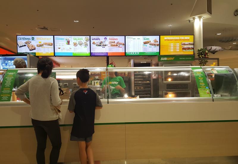 Renovated Sub Sandwich Franchise Restaurant Food Court